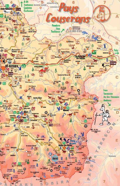 Carte touristique du Couserans