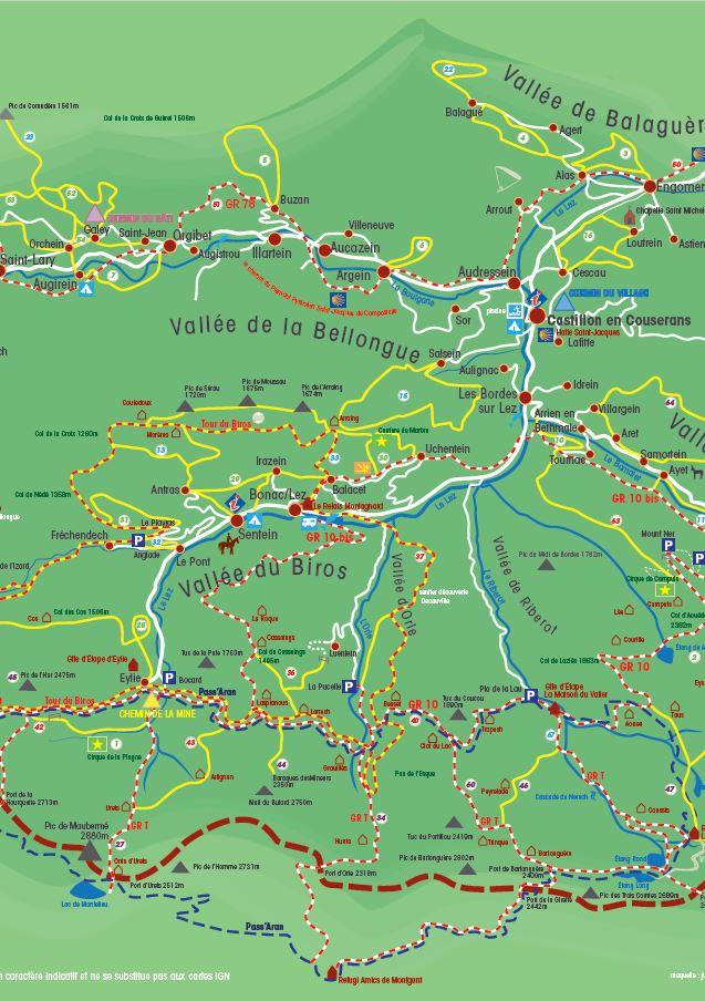 Carte randonnée Castillonnais