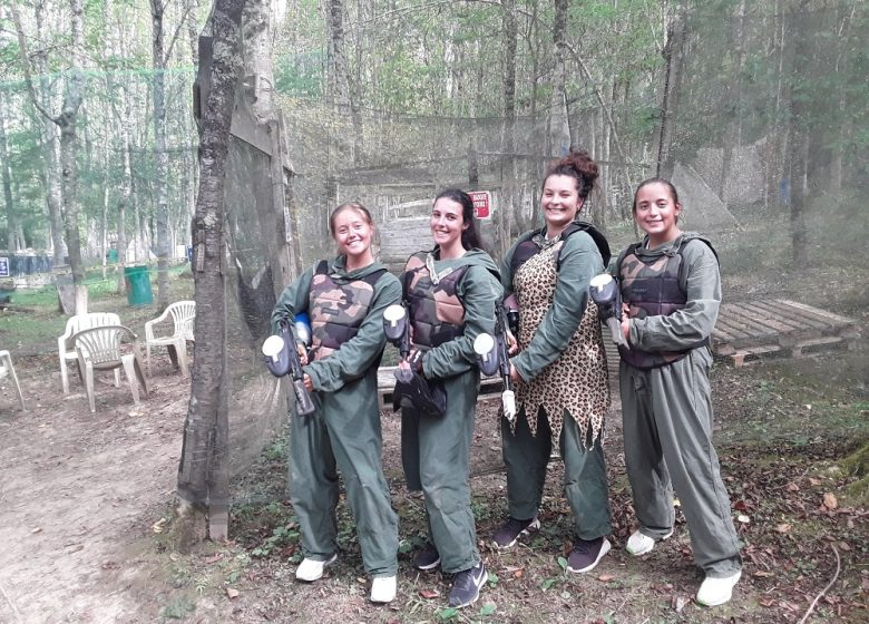 Groupe Fille Paintball