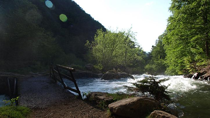 La rivière d'Ars à la passerelle d'Artigous