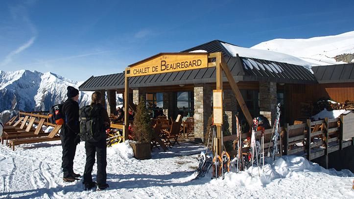 l'exterieur du restaurant en hiver