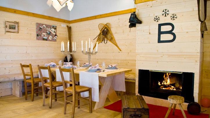 l'intérieur du restaurant du Chalet de Beauregard