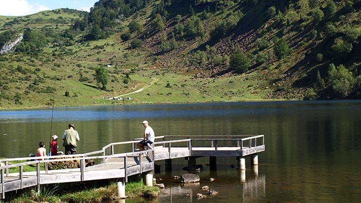 ponton de pêche de l'étang