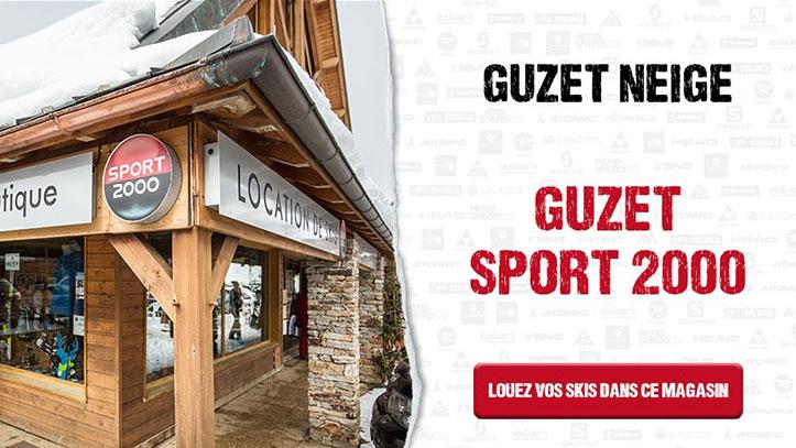 comptoir de location de Guzet Sport 2000