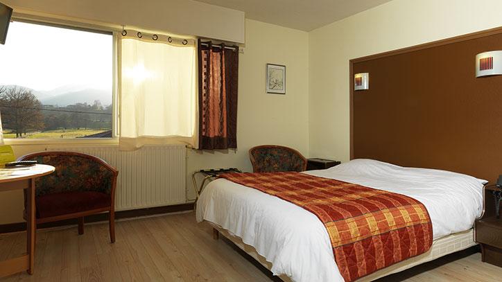 chambre de l'hotel horizon 117 à Lorp
